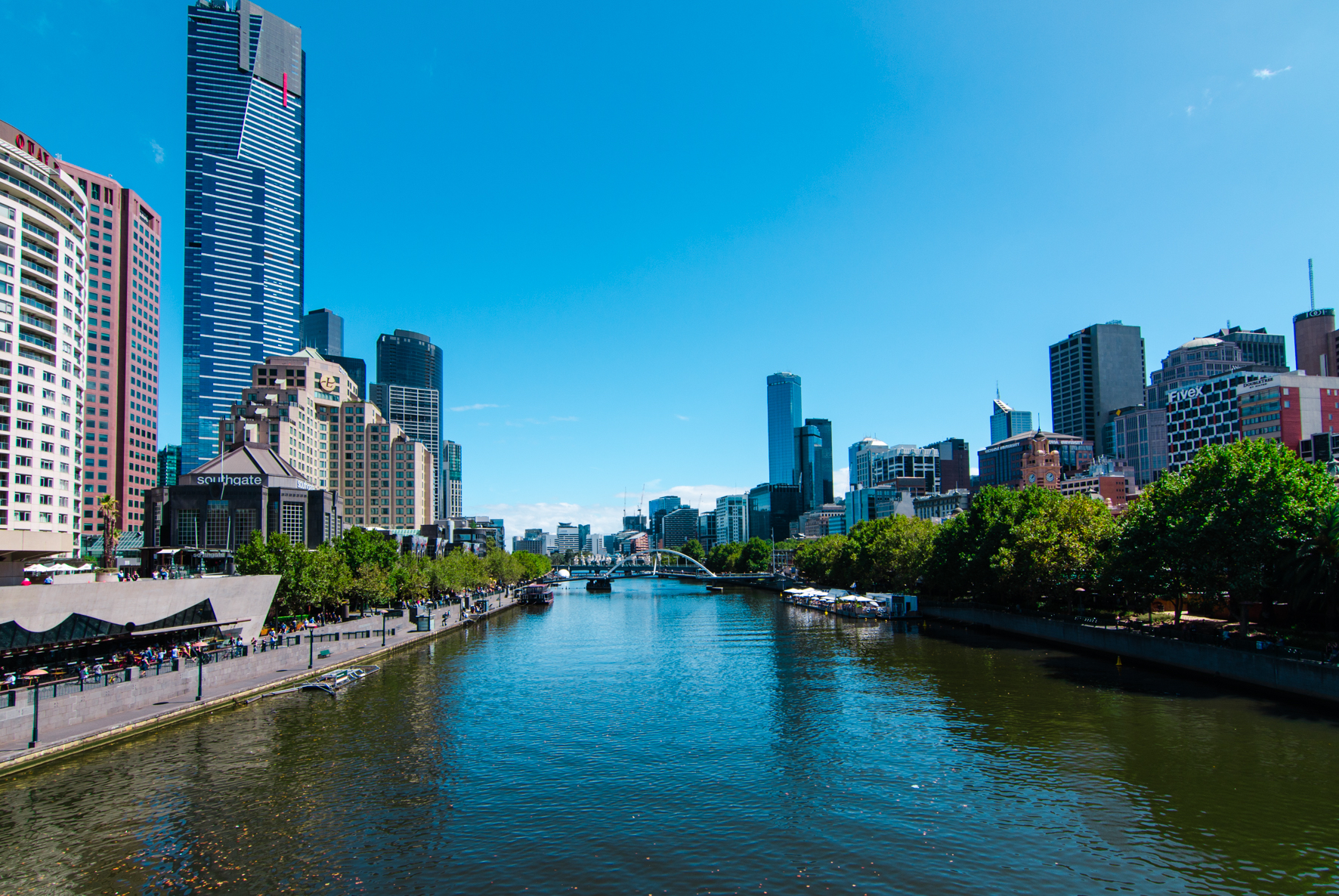 Melbourne Yarra River City Buildings Street Photography